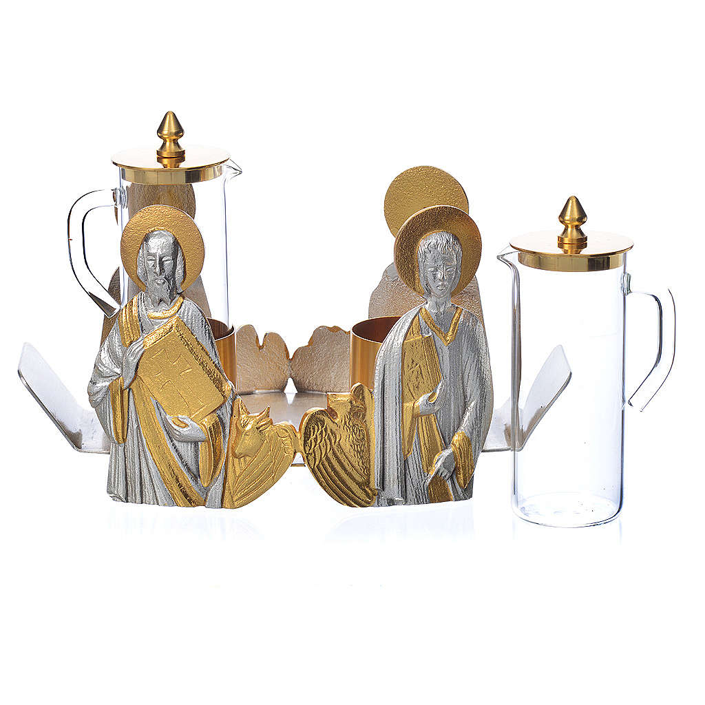Mass cruet set for mass Evangelists busts 4