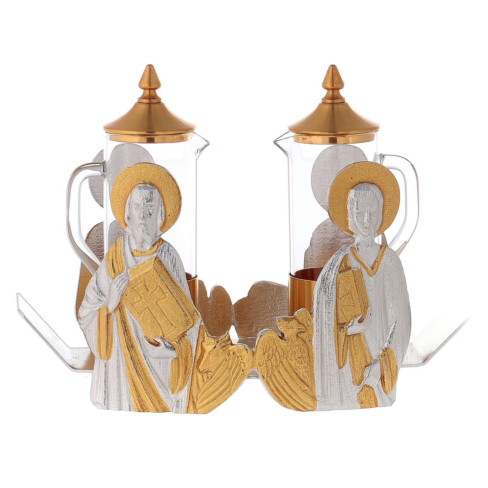 Mass cruet set for mass Evangelists busts 4
