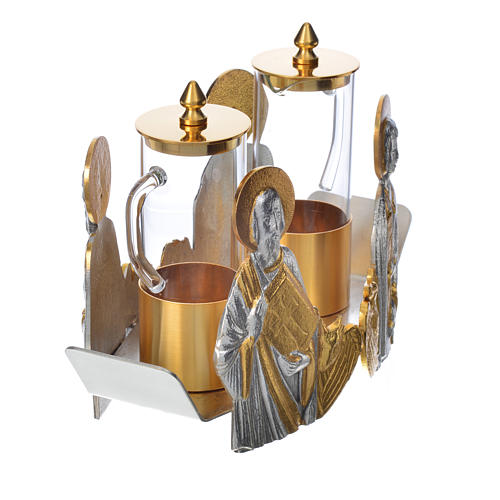 Mass cruet set for mass Evangelists busts 16
