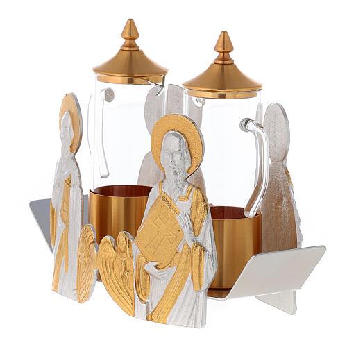 Mass cruet set for mass Evangelists busts 3