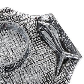 Ampolline bronzo argentato con pesci s3
