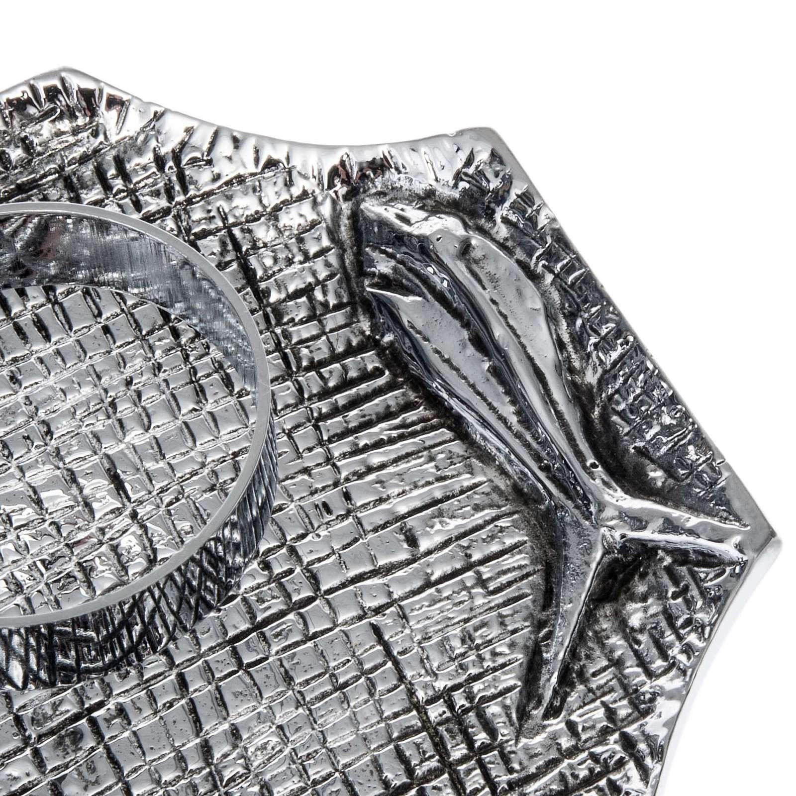 Bronze cruet set decorated with fish motif 4