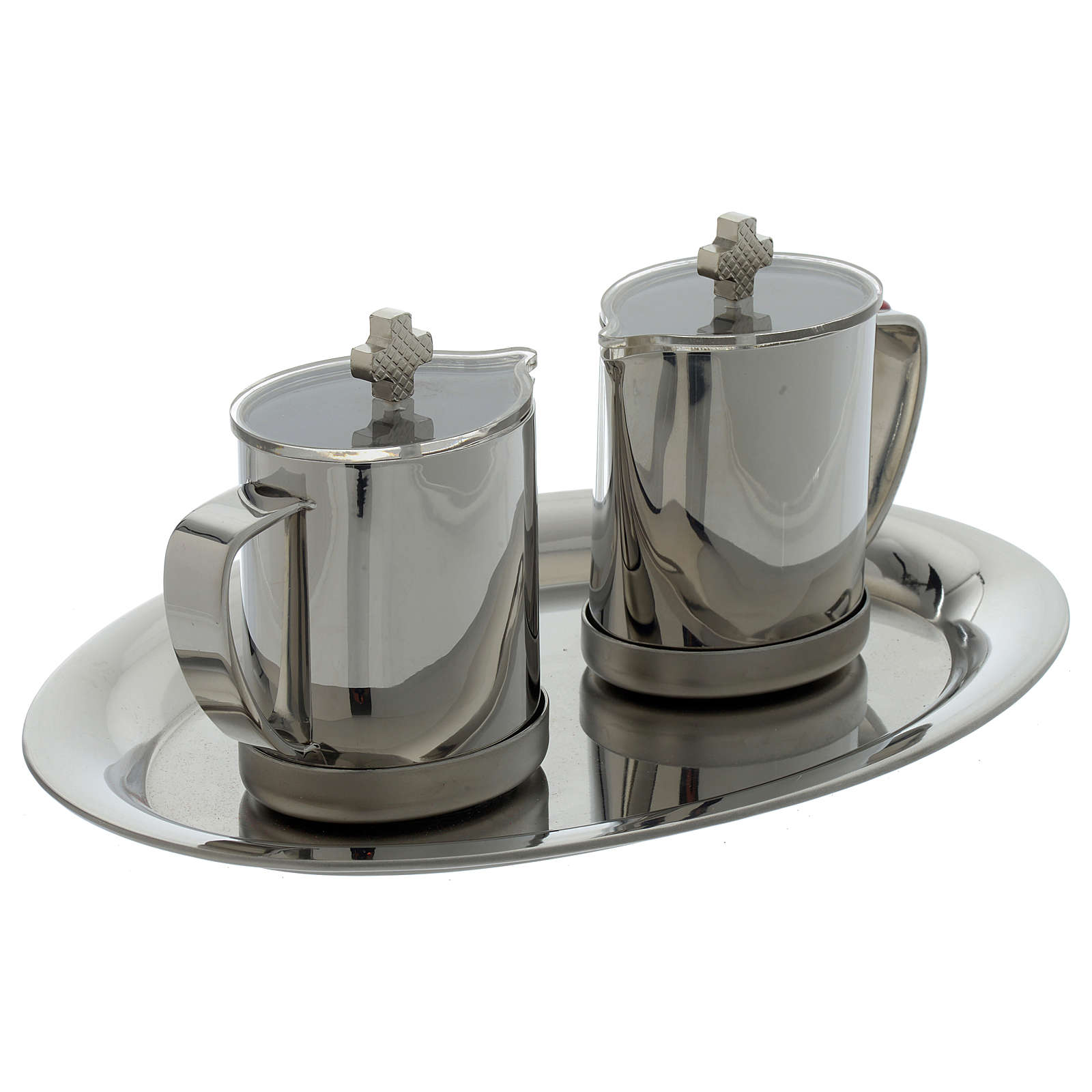 Stainelss steel cruets metal handle 4