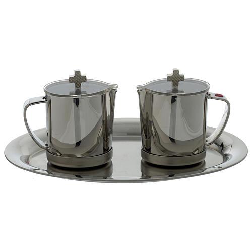 Stainelss steel cruets metal handle 1