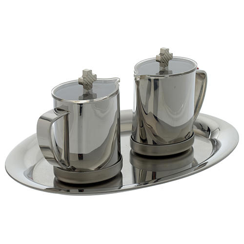 Stainelss steel cruets metal handle 2