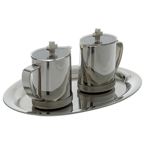 Stainelss steel cruets for mass metal handle 2