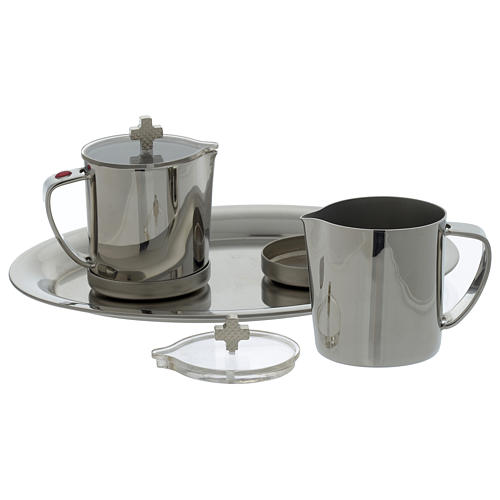 Stainelss steel cruets for mass metal handle 3