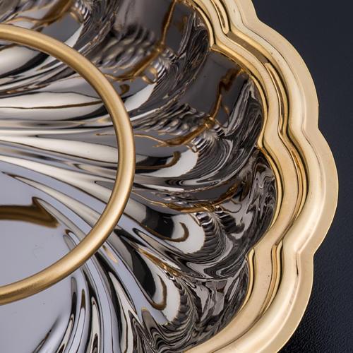 Vinajeras cristal base niquelada dorada angelito 5