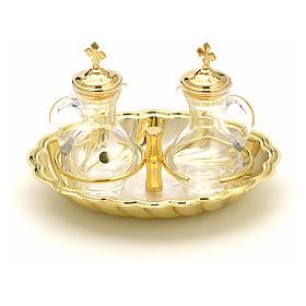 Ampolline vetro vassoio argento e oro s1
