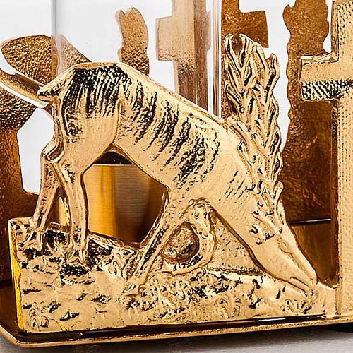 Glass cruet set with deer at the font 3
