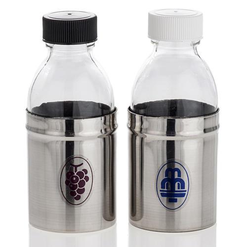 Bouteilles hermétiques pour eau et vin de messe 1