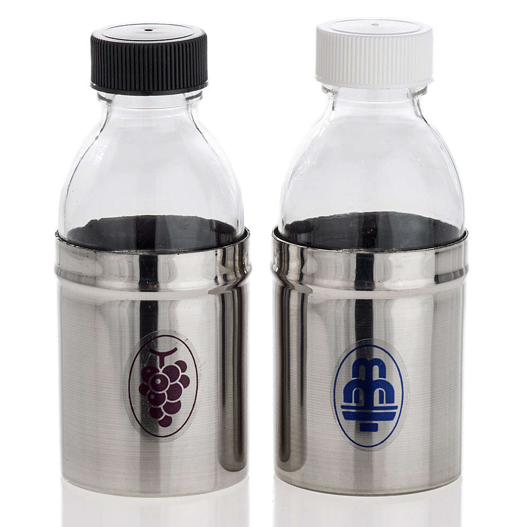 Cruets with hermetic lid, water and wine 30 ml 4