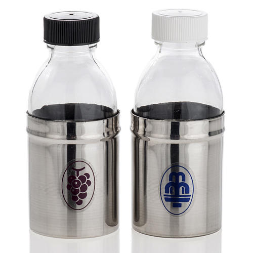 Cruets with hermetic lid, water and wine 30 ml 1