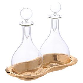 Vinajeras de vidrio con bandeja mod. Murano s2