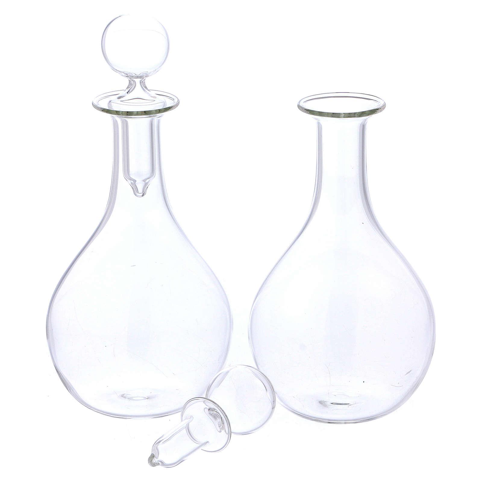 Burettes en verre sur plateau mod. Globus 4