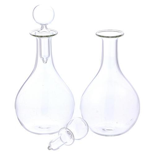 Burettes en verre sur plateau mod. Globus 5