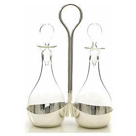 Ampolle vetro con vassoio mod. Murano s4