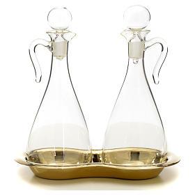 Ampolle vetro con vassoio mod. Murano s6