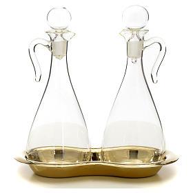 Ampolle vetro con vassoio mod. Murano s1