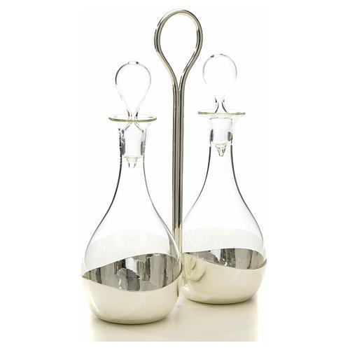Ampolle vetro con vassoio mod. Murano 5