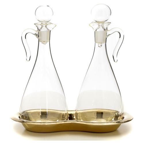 Ampolle vetro con vassoio mod. Murano 6