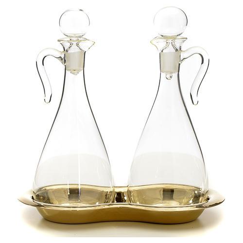 Ampolle vetro con vassoio mod. Murano 1