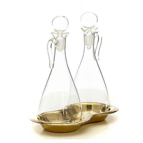 Ampolle vetro con vassoio mod. Murano 2