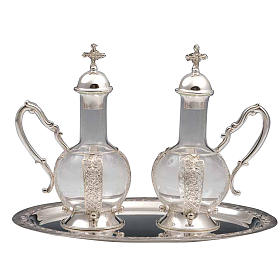Cruet set for mass, water and wine in 800 silver s1