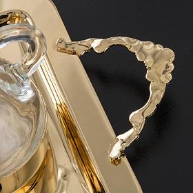Vinajeros de vidrio y latón brillante s6