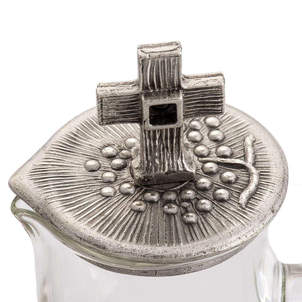Burettes liturgiques en bronze fondu argenté 4