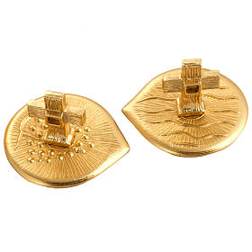 Ampolline per celebrazione in bronzo fuso dorato s5