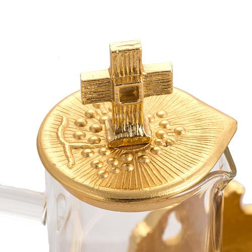 Cruet set in gold-plated molten bronze 3
