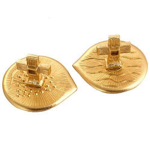 Cruet set in gold-plated molten bronze 5