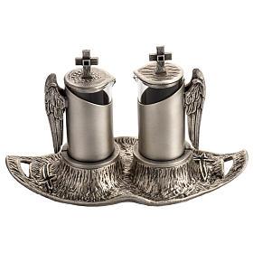 Ampolline da messa in bronzo fuso argentato s1