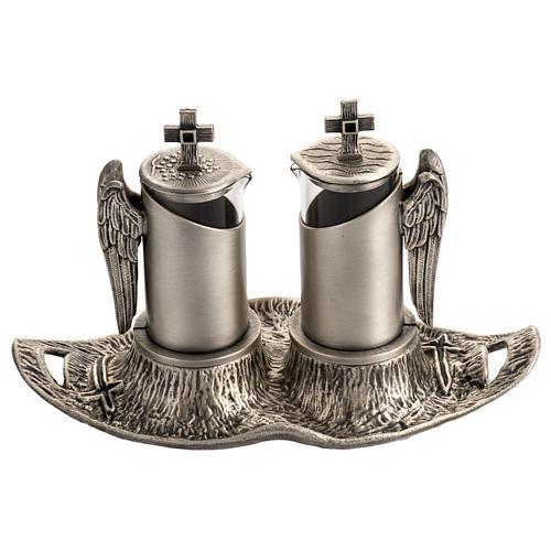 Ampolline da messa in bronzo fuso argentato 1