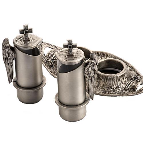 Ampolline da messa in bronzo fuso argentato 3