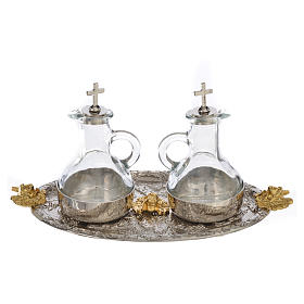Cruets set with tray, grapes and angels s2