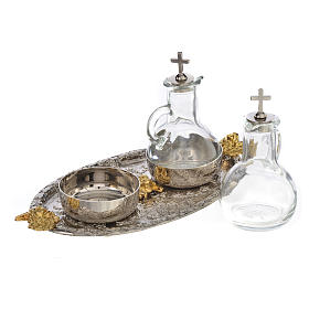 Cruets set with tray, grapes and angels s3