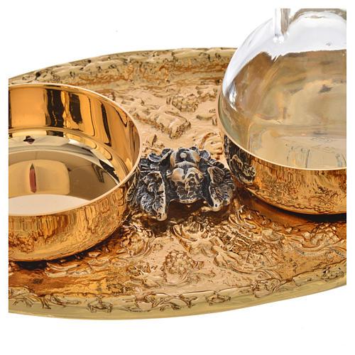 Set of cruets in cast brass 4