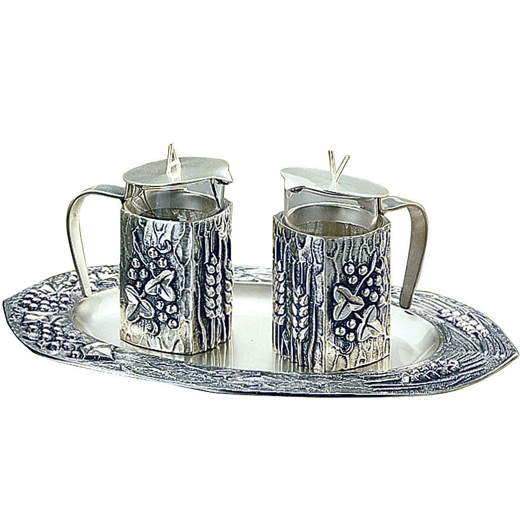 Molina water and wine cruets in silver-plated brass 4