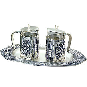 Molina water and wine cruets in silver-plated brass s1