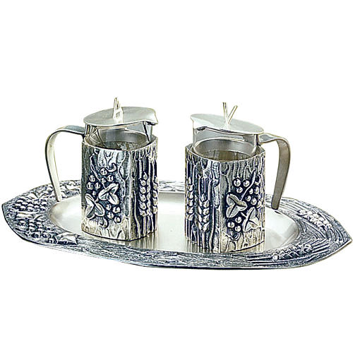 Molina water and wine cruets in silver-plated brass 1