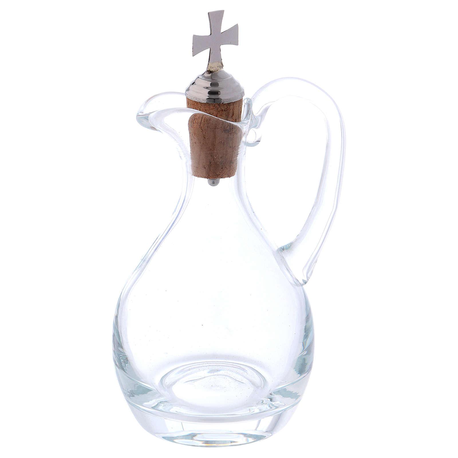 Burettes eau et vin Molina cristal et acier 4