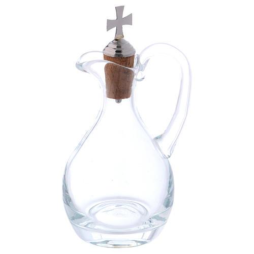 Burettes eau et vin Molina cristal et acier 3