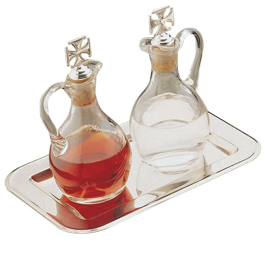 Ampolle acqua e vino Molina cristallo e acciaio 4