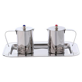 Molina cruets set for mass celebration in stainless steel s1