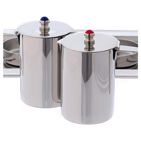 Molina cruets set for mass celebration in stainless steel s2