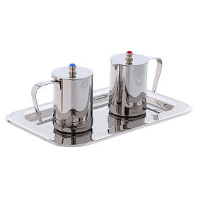 Molina cruets set for mass celebration in stainless steel s3
