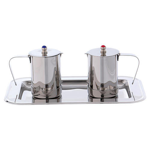 Molina cruets set for mass celebration in stainless steel 1