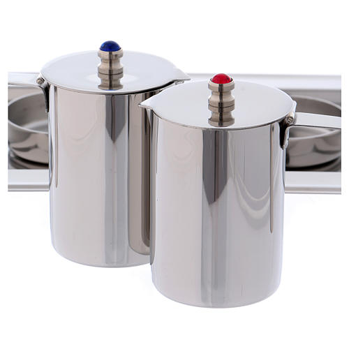 Molina cruets set for mass celebration in stainless steel 2